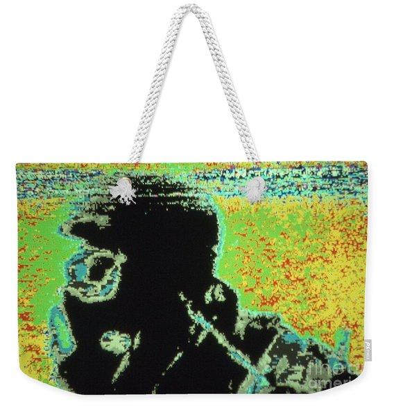 War Image Dark Weekender Tote Bag