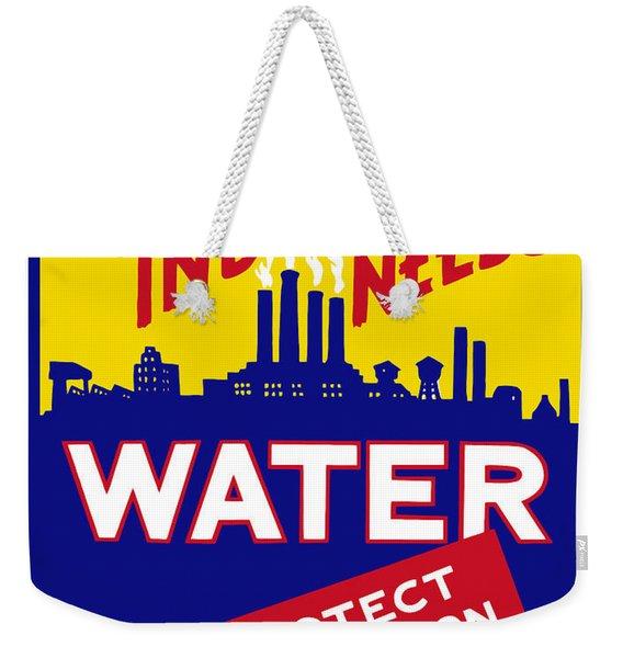 War Industry Needs Water - Wpa Weekender Tote Bag