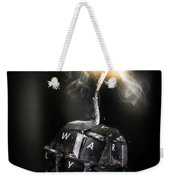 War On Information Weekender Tote Bag