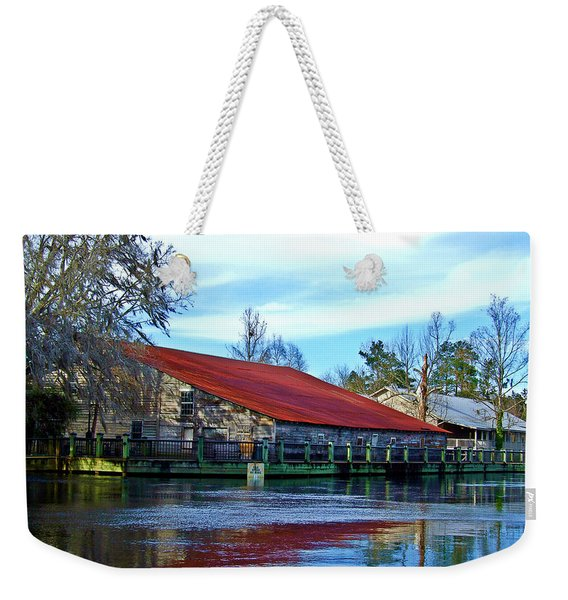 Warehouse On The River Weekender Tote Bag