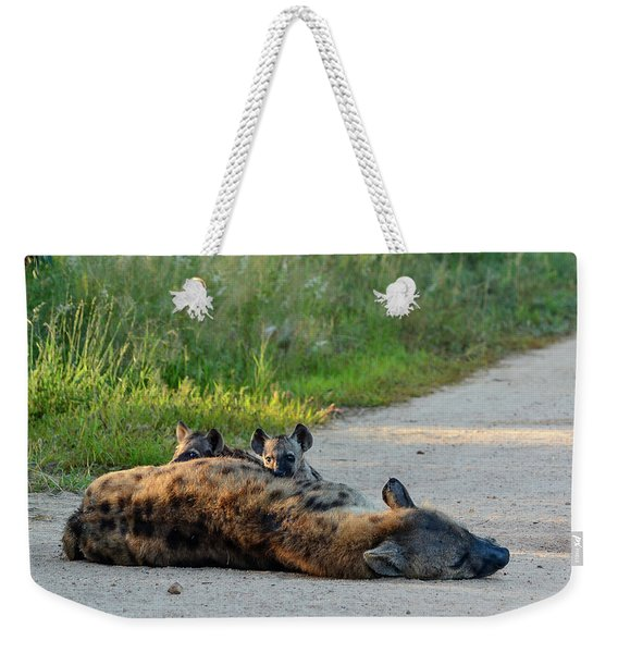 Warily Watching Weekender Tote Bag
