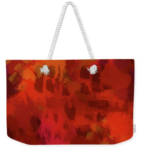 Warm Abstract 1 Weekender Tote Bag