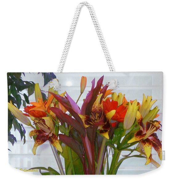Warm Colored Flowers Weekender Tote Bag