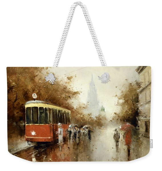 Warm Moscow Autumn Of 1953 Weekender Tote Bag