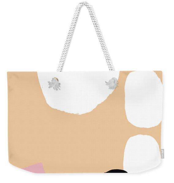 Warm Pastel Abstract Weekender Tote Bag