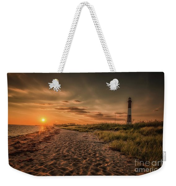 Warm Sunrise At The Fire Island Lighthouse Weekender Tote Bag