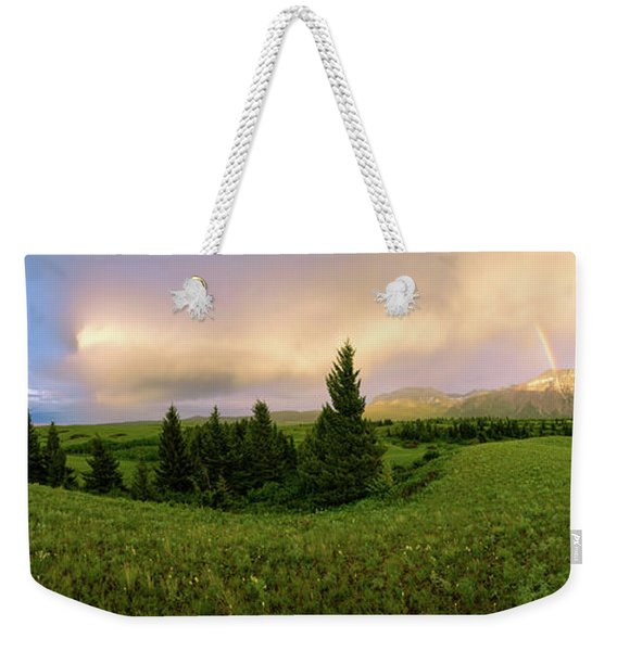 Warm The Soul Panorama Weekender Tote Bag