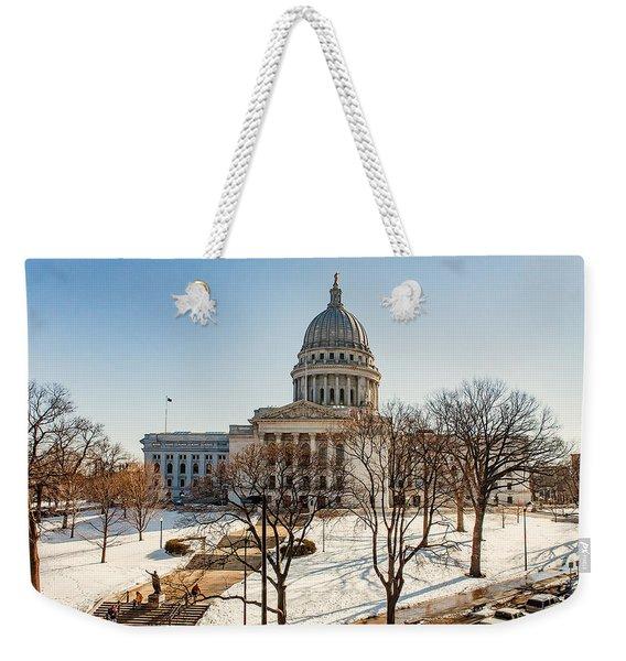 Warm Winter Capitol Weekender Tote Bag