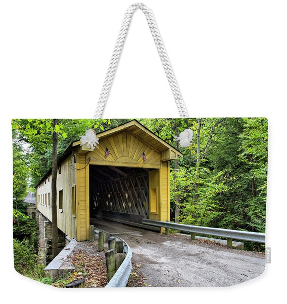 Warner Hollow Covered Bridge Weekender Tote Bag