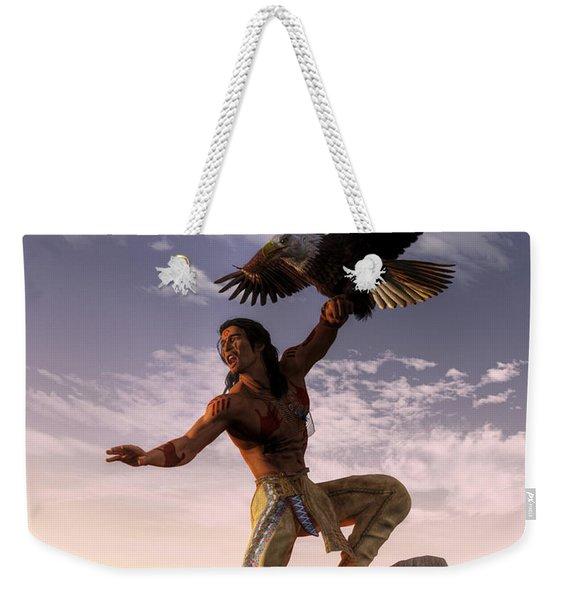 Warrior And Eagle Weekender Tote Bag