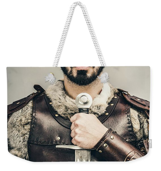 Warrior With Sword Weekender Tote Bag