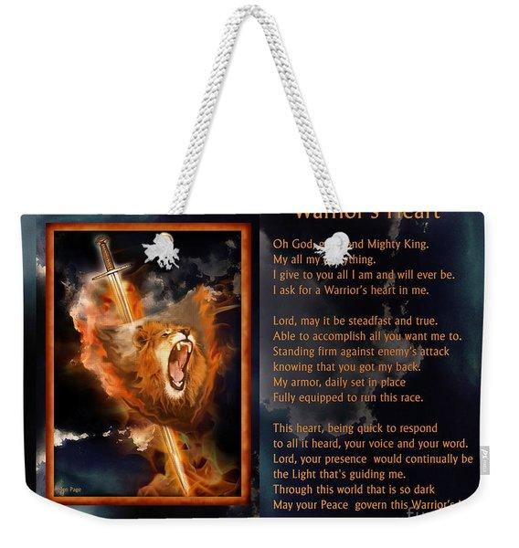 Warrior's Heart Poetry Weekender Tote Bag
