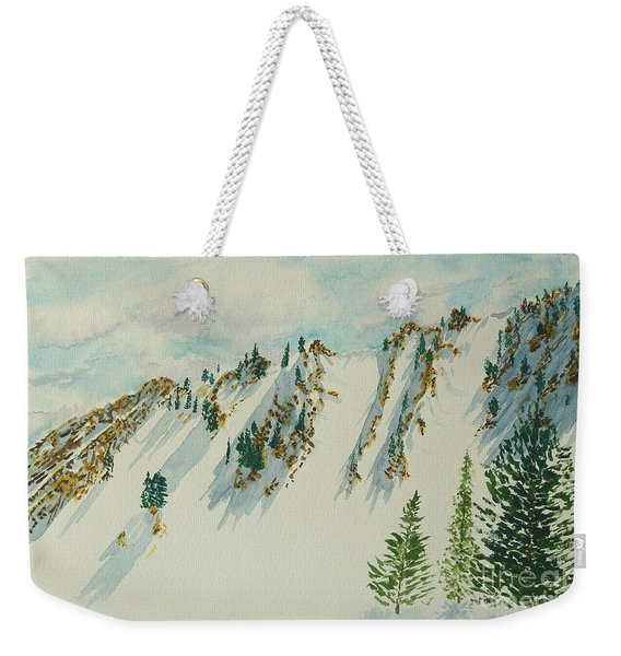 Wasatch Mountain Powder Chutes Weekender Tote Bag