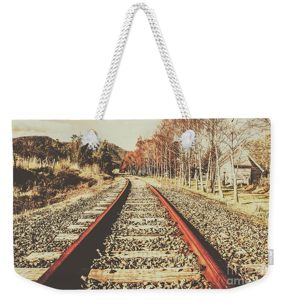 Washed Out Lines Weekender Tote Bag