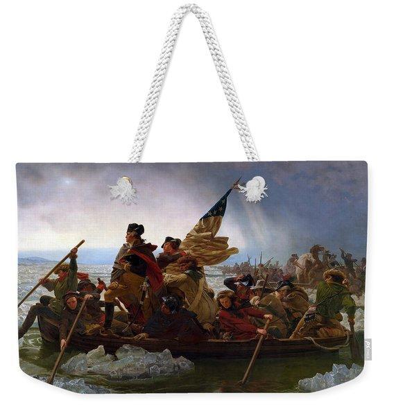 Washington Crossing The Delaware Painting - Emanuel Gottlieb Leutze Weekender Tote Bag