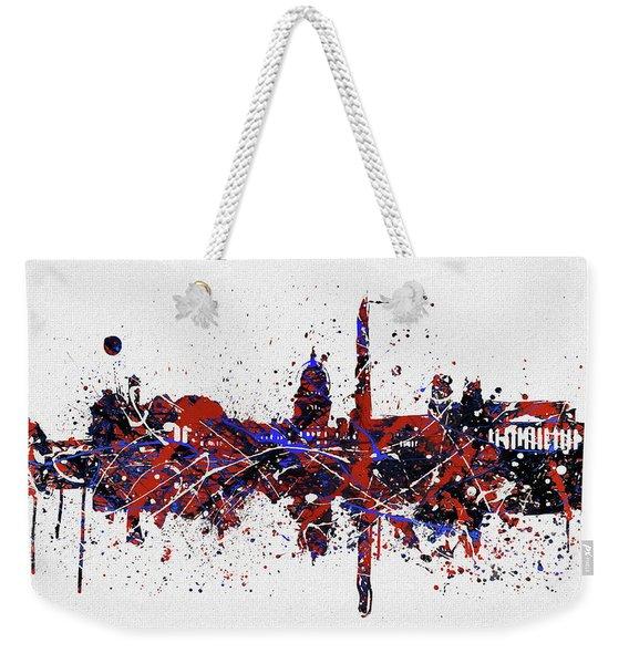 Washington Dc Colorful Skyline Weekender Tote Bag