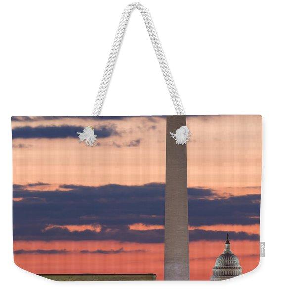 Washington Dc Landmarks At Sunrise II Weekender Tote Bag