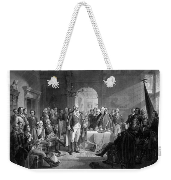 Washington Meeting His Generals Weekender Tote Bag
