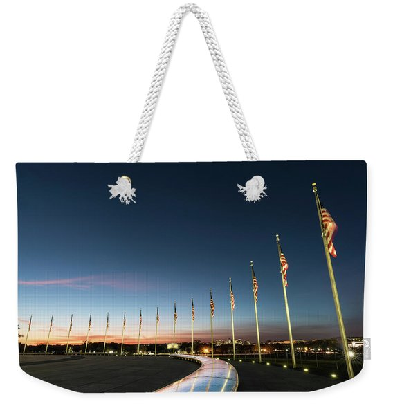 Washington Monument Flags Weekender Tote Bag
