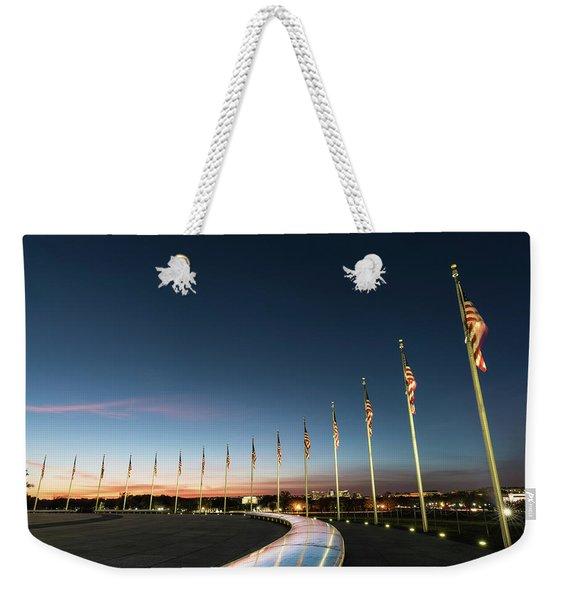 Washington Monument Flags Weekender Tote Bag
