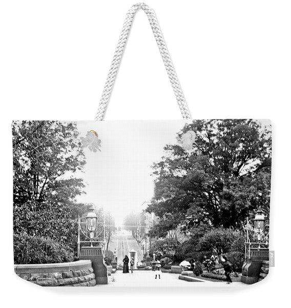 Washington Monument Grounds Baltimore 1900 Vintage Photograph Weekender Tote Bag