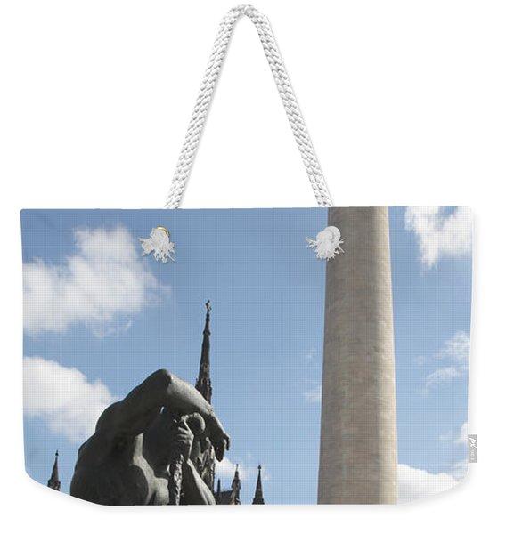 Washington Monument In Baltimore Weekender Tote Bag