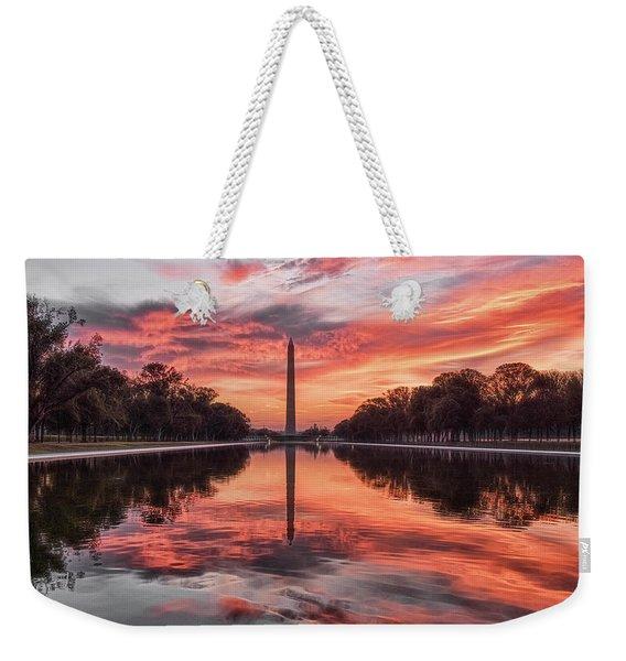 Washington Monument Sunrise Weekender Tote Bag