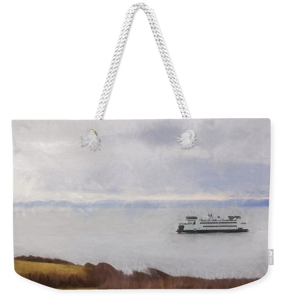 Washington State Ferry Approaching Whidbey Island Weekender Tote Bag