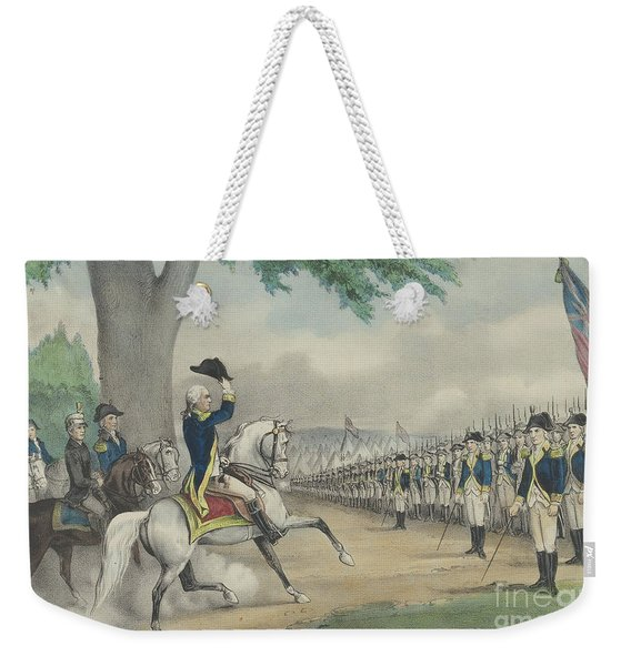 Washington Taking Command Of The American Army At Cambridge, Massachusetts On 3 July 1775 Weekender Tote Bag