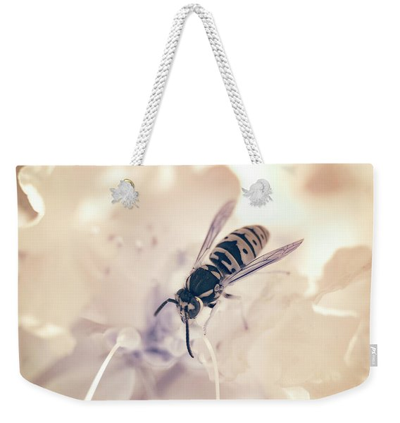 Weekender Tote Bag featuring the photograph Wasp In Ir by Brian Hale