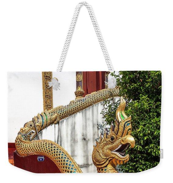 Wat Chiang Chom Phra Wihan Naga Dthcm0892 Weekender Tote Bag