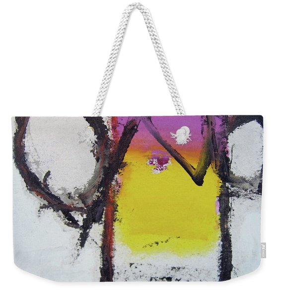 Weekender Tote Bag featuring the painting Watch And Listen by Cliff Spohn