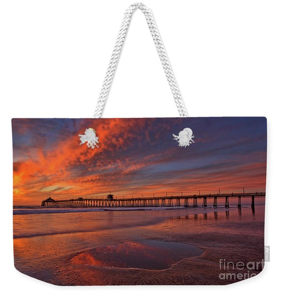 Weekender Tote Bag featuring the photograph Watch More Sunsets Than Netflix by Sam Antonio Photography