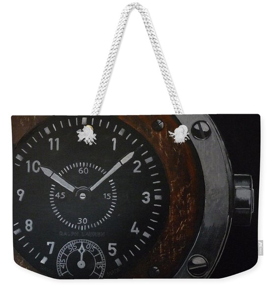 Weekender Tote Bag featuring the painting Watch by Richard Le Page