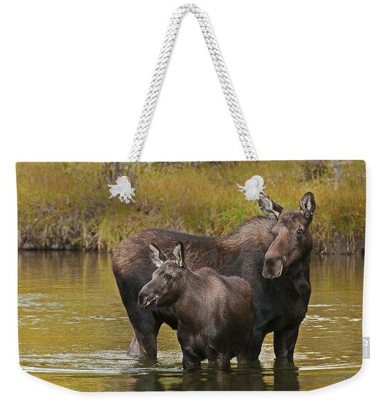 Watchful Moose Weekender Tote Bag