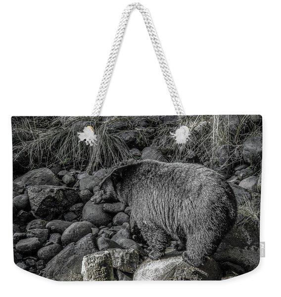 Watching Black Bear Weekender Tote Bag