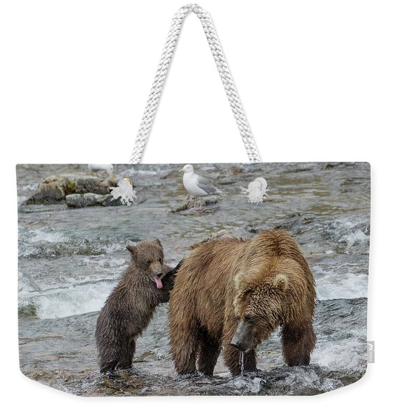 Watching For The Sockeye Salmon Weekender Tote Bag