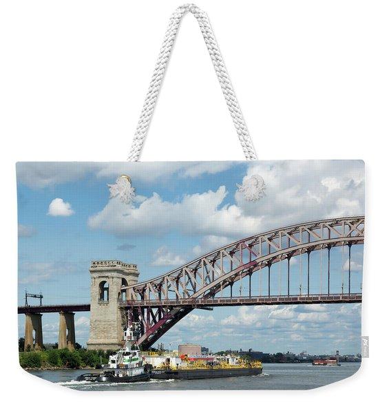 Water And Ship Under The Bridge II Weekender Tote Bag