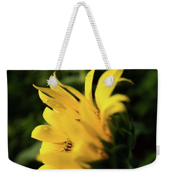 Water Drops And Sunflower Petals Weekender Tote Bag