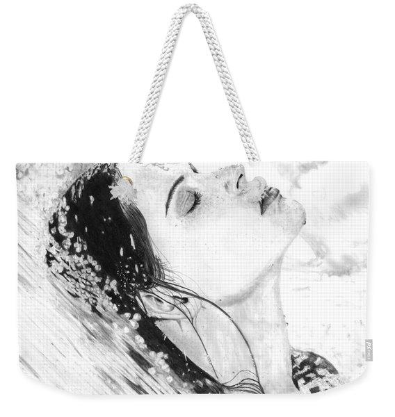 Water Flowing Over Woman Weekender Tote Bag