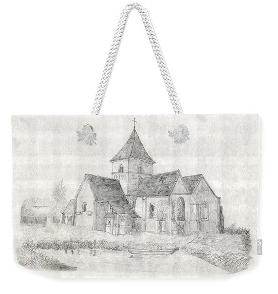 Water Inlet At Church Weekender Tote Bag