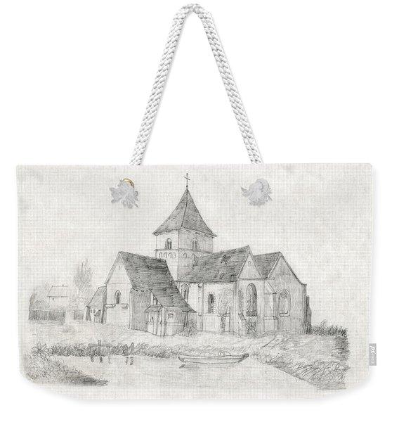 Water Inlet Near Church Weekender Tote Bag