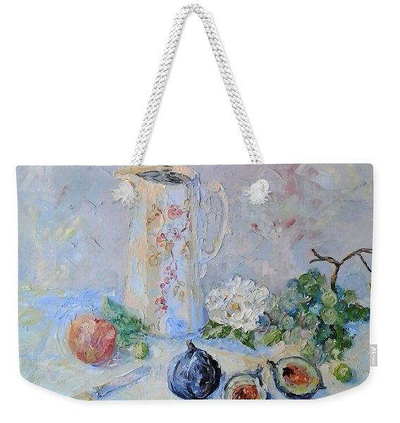 Water Jug, Camellia And Fruit Weekender Tote Bag