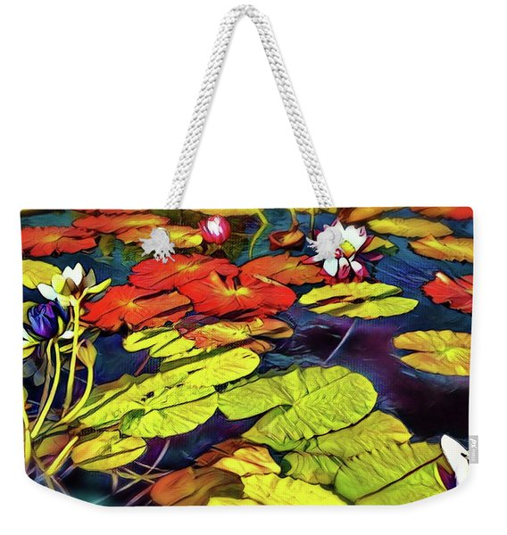 Water Lilly Pond Weekender Tote Bag