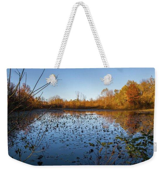 Water Lily Evening Serenade Weekender Tote Bag