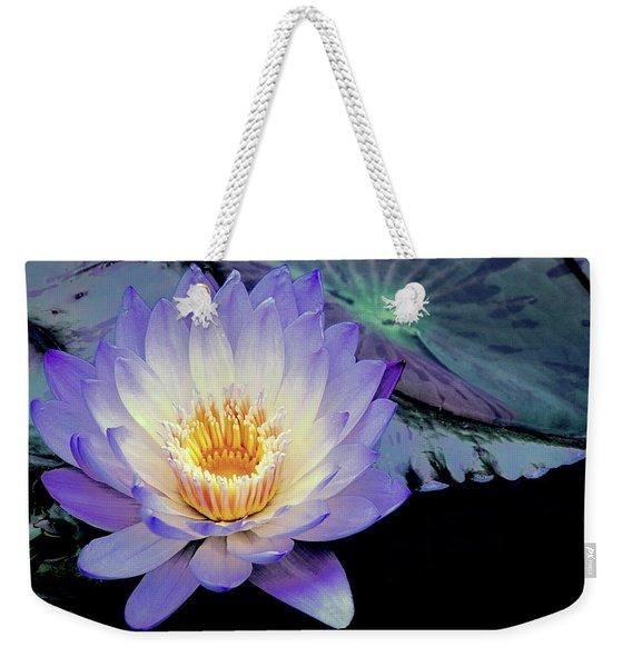 Water Lily In Lavender Weekender Tote Bag