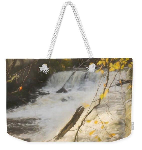 Water Over The Dam. Weekender Tote Bag
