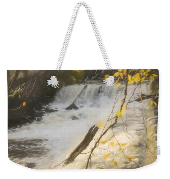 Water Over The Dam. Weekender Tote Bag
