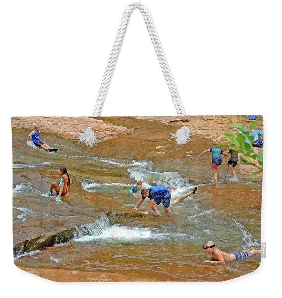 Water Play 3 Weekender Tote Bag