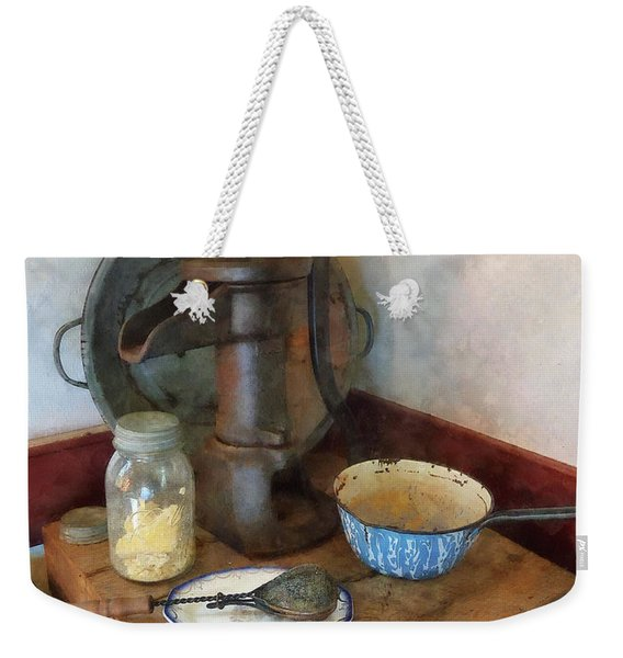 Water Pump In Kitchen Weekender Tote Bag